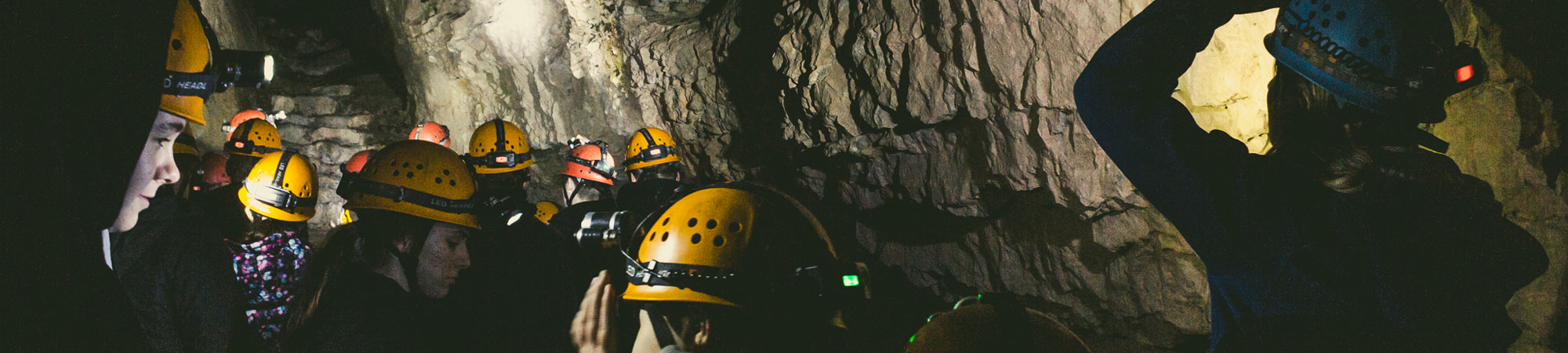 School team building exercise in North Wales mines